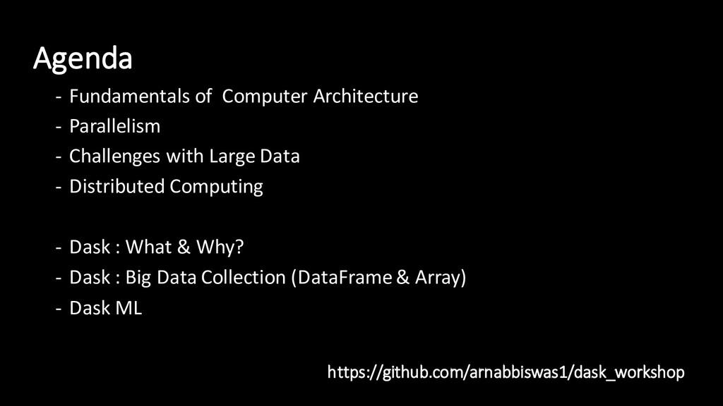 Agenda - Fundamentals of Computer Architecture ...