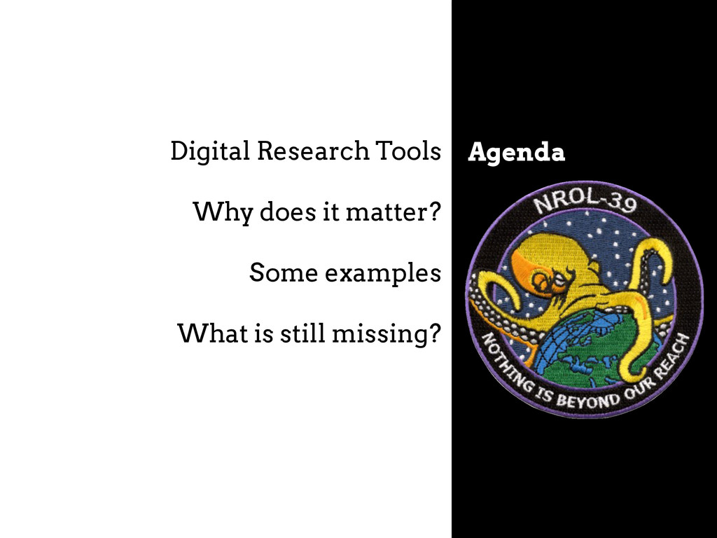 Agenda Digital Research Tools Why does it matte...