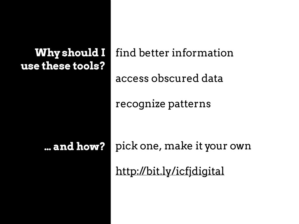 Why should I use these tools? find better infor...