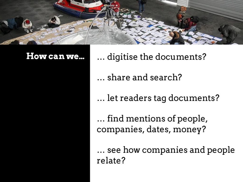 How can we… … digitise the documents? … share a...