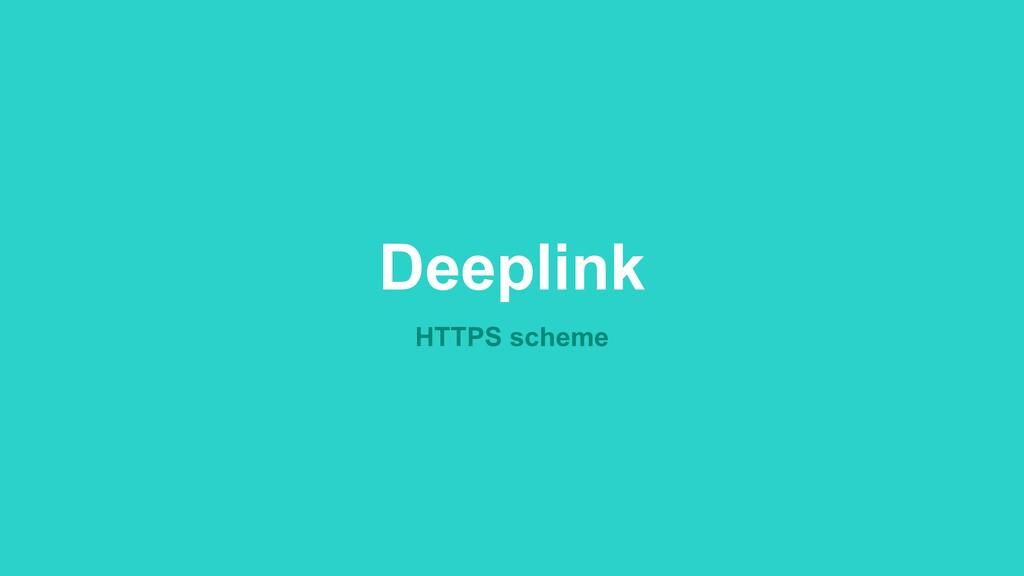 Deeplink HTTPS scheme