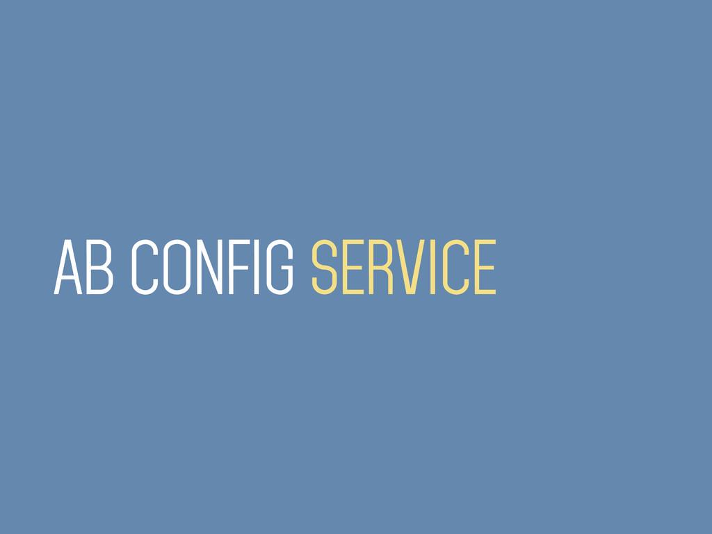 AB CONFIG SERVICE