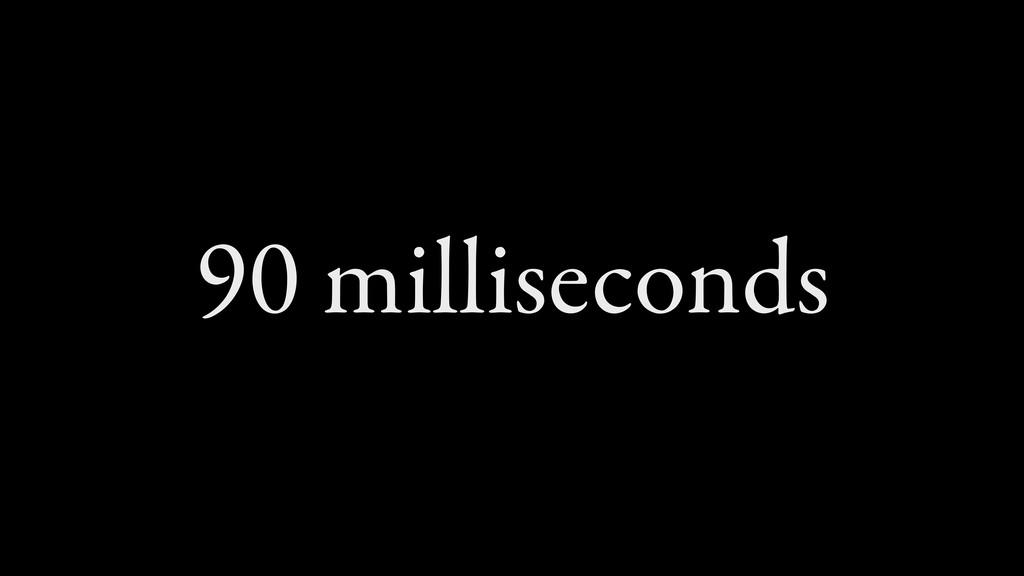90 milliseconds