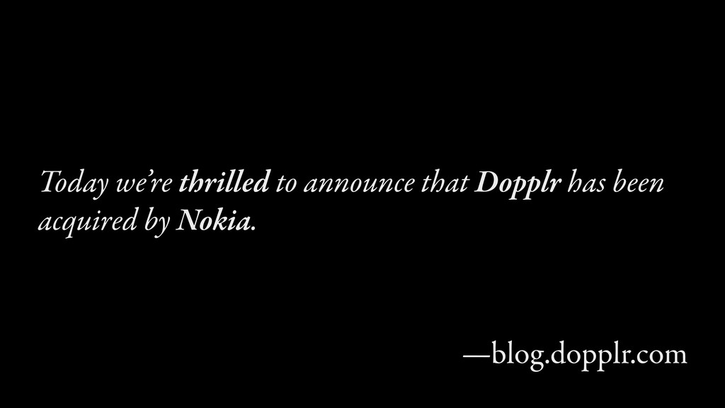 Today we're thrilled to announce that Dopplr ha...