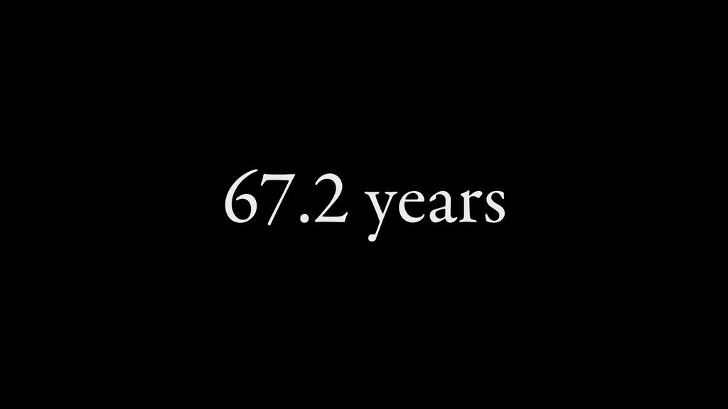 67.2 years