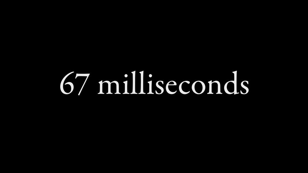 67 milliseconds