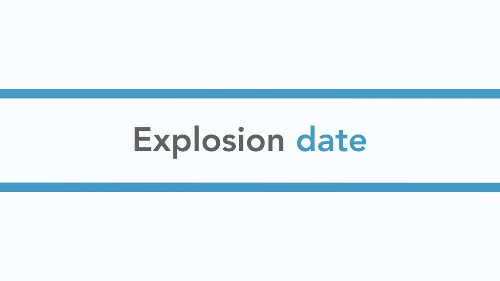 Explosion date
