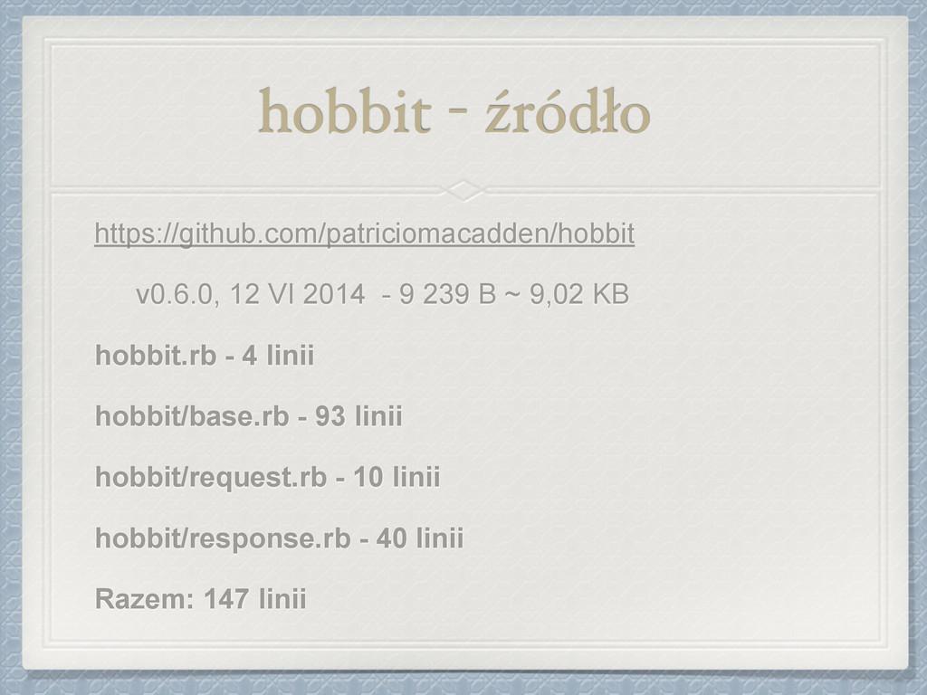 hobbit - źródło https://github.com/patriciomaca...