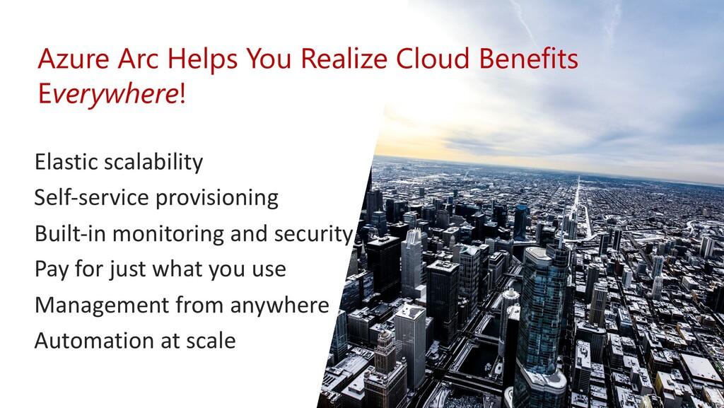 Elastic scalability Self-service provisioning B...
