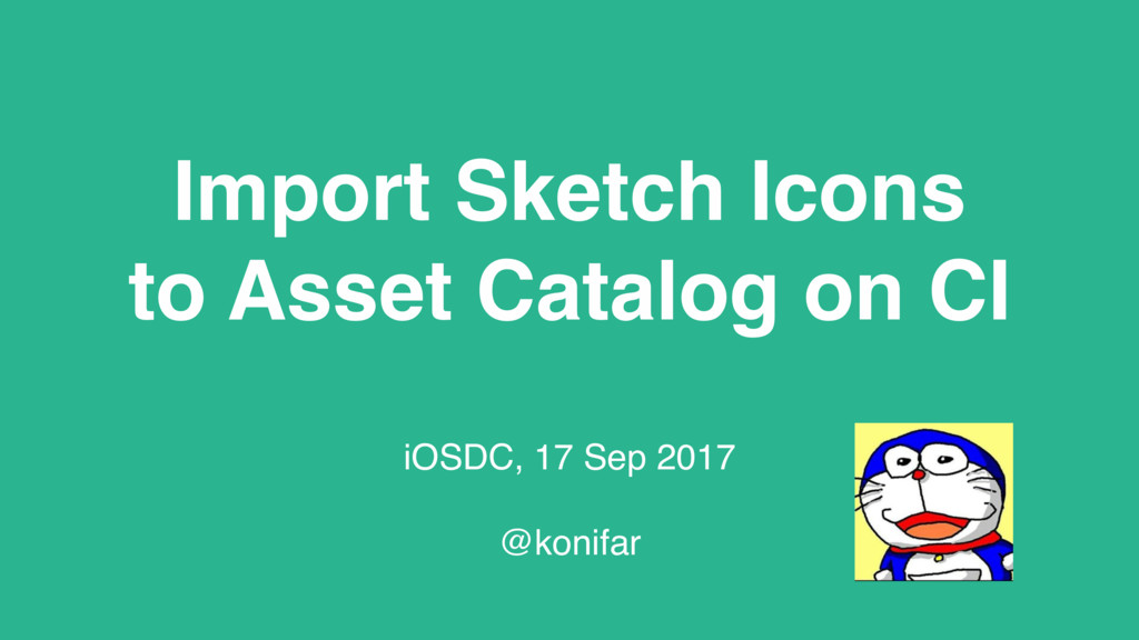 Import Sketch Icons to Asset Catalog on CI iOSD...