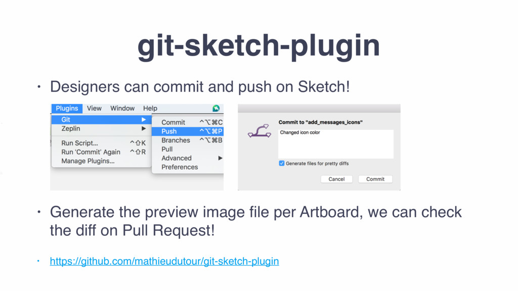 git-sketch-plugin • Designers can commit and pu...