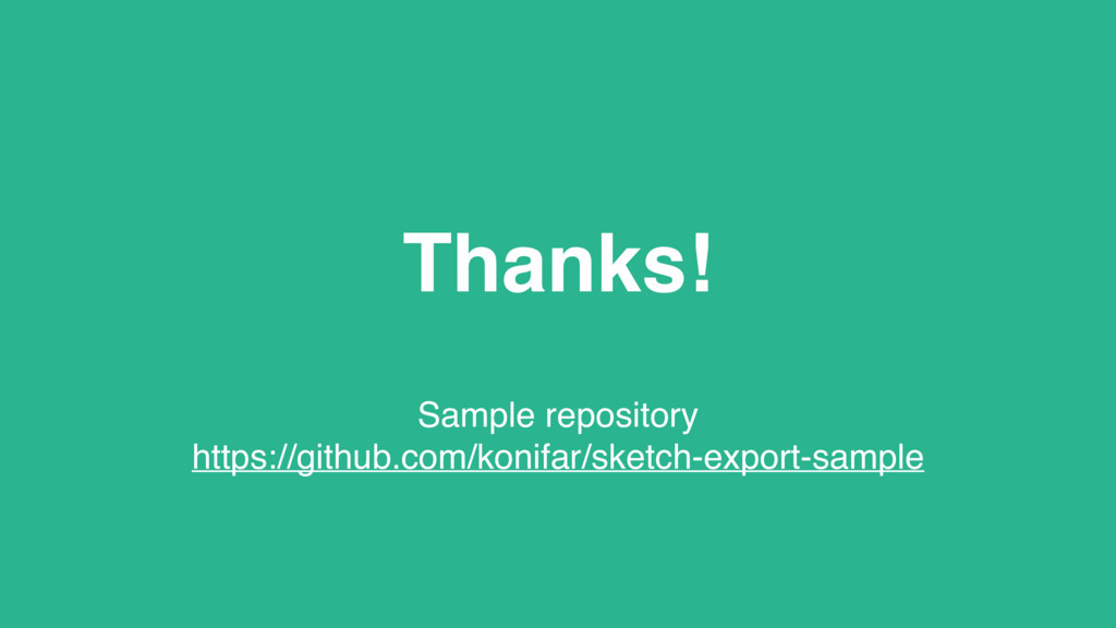 Thanks! Sample repository https://github.com/ko...
