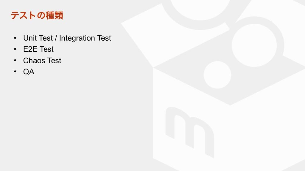 ςετͷछྨ • Unit Test / Integration Test • E2E Tes...