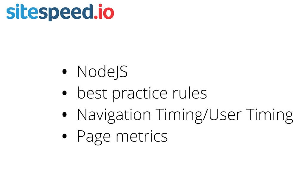 • NodeJS • best practice rules • Navigation Tim...