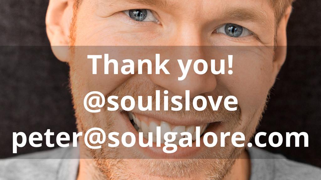 Thank you! @soulislove peter@soulgalore.com