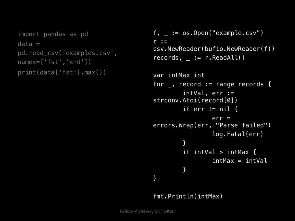 import pandas as pd! data = pd.read_csv('exampl...