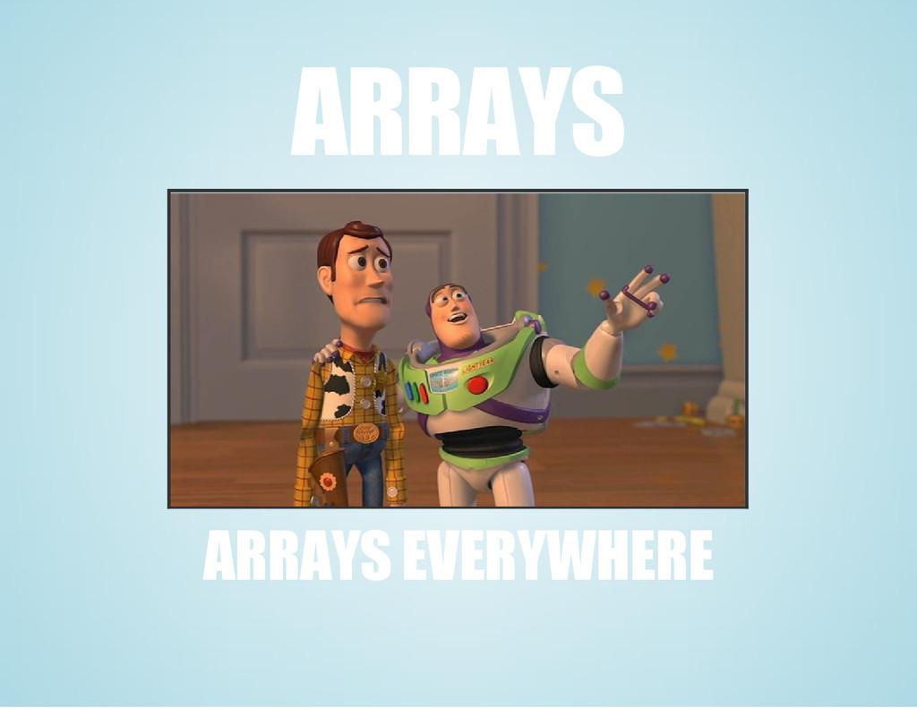 ARRAYS ARRAYS EVERYWHERE