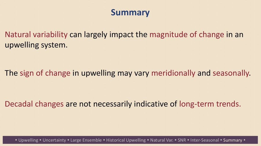 Summary Natural variability can largely impact ...