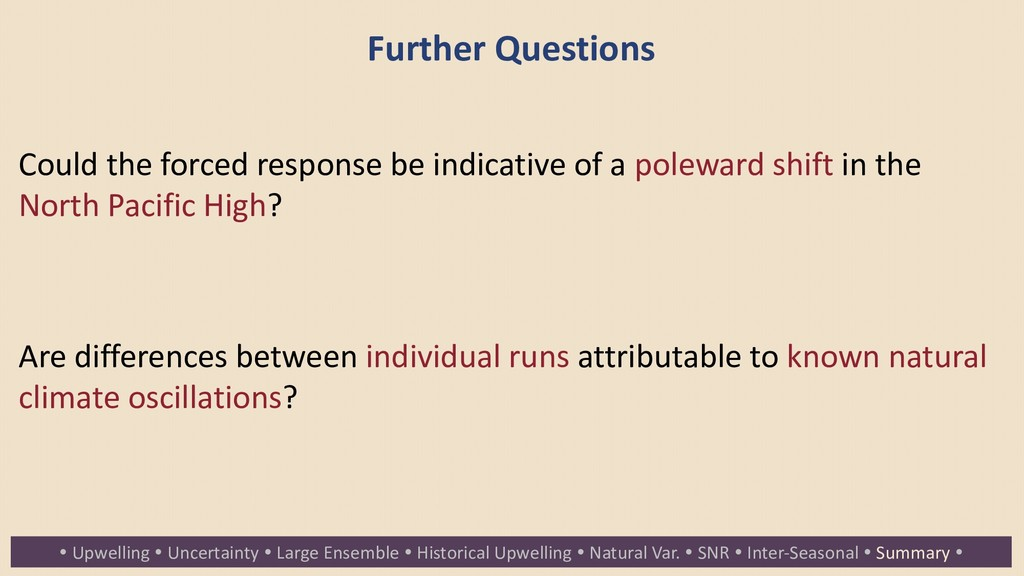 Further Questions Could the forced response be ...