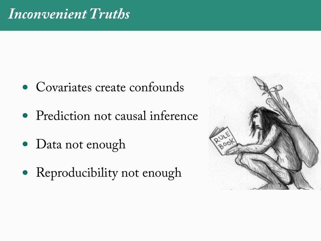 Inconvenient Truths • Covariates create confoun...