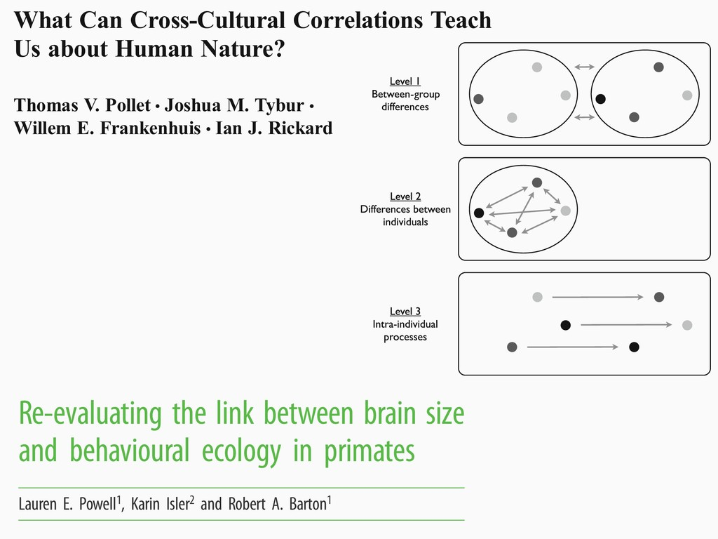What Can Cross-Cultural Correlations Teach Us a...