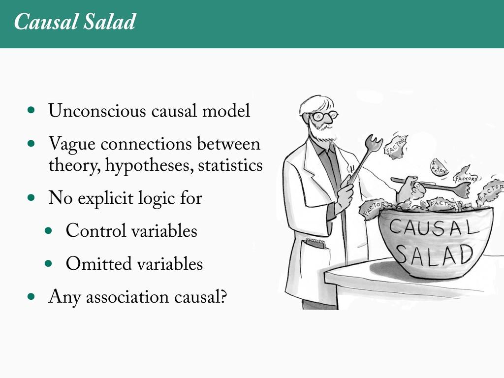 Causal Salad • Unconscious causal model • Vague...