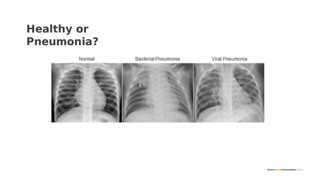 Healthy or Pneumonia?
