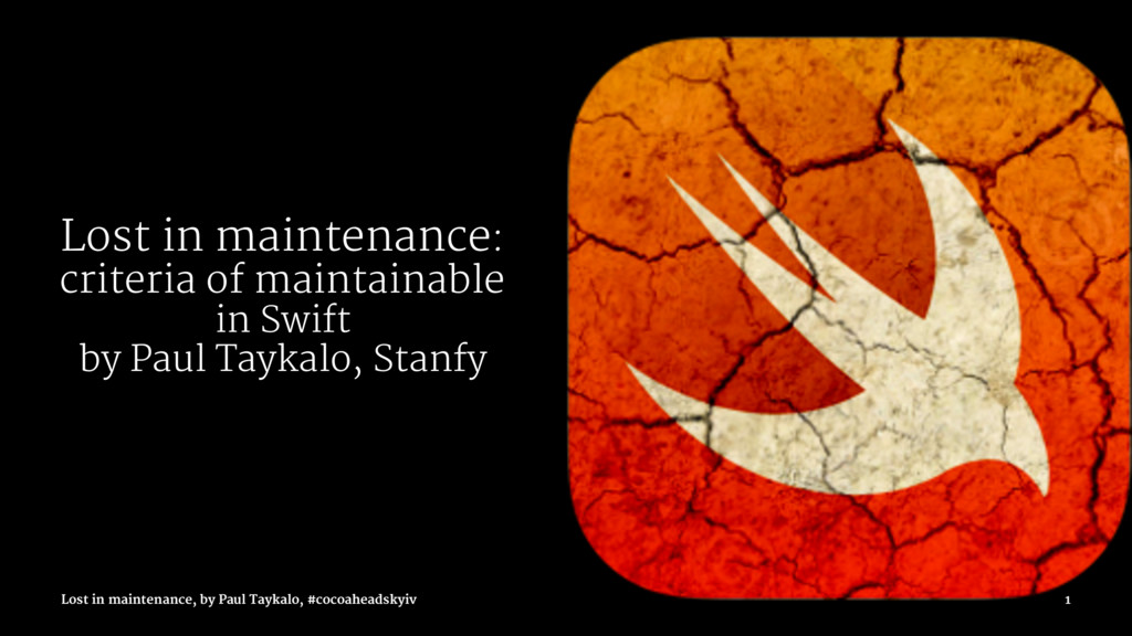 Lost in maintenance: criteria of maintainable i...
