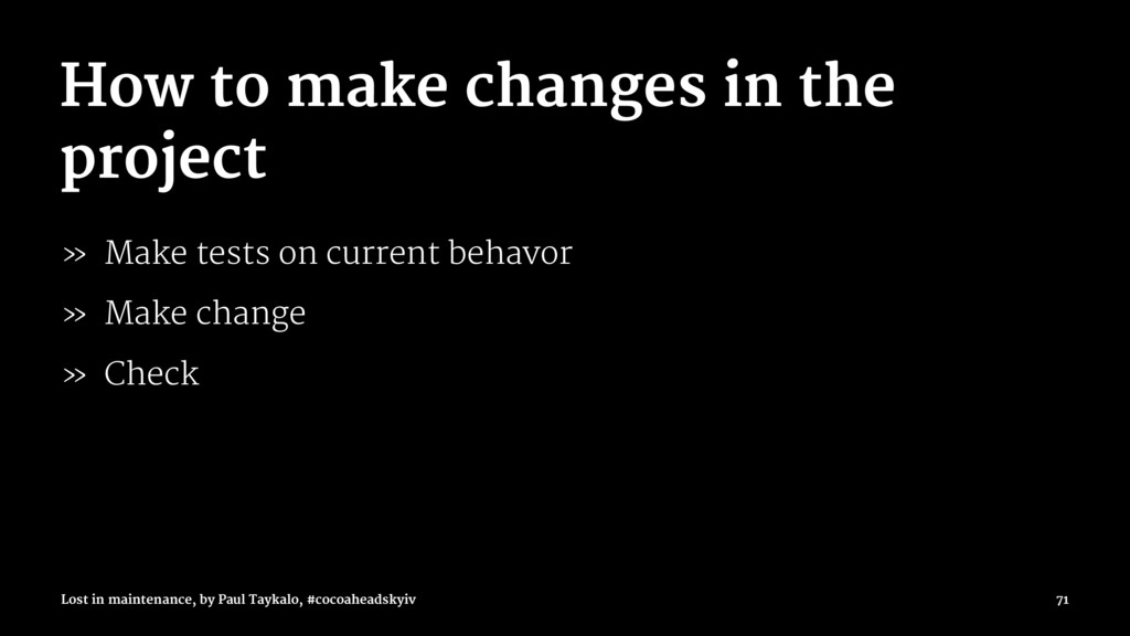 How to make changes in the project » Make tests...