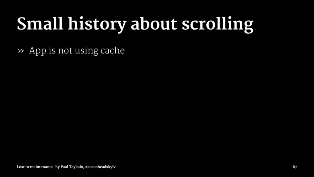Small history about scrolling » App is not usin...