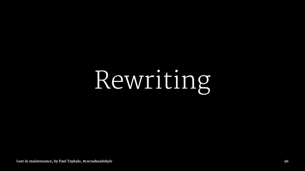 Rewriting Lost in maintenance, by Paul Taykalo,...