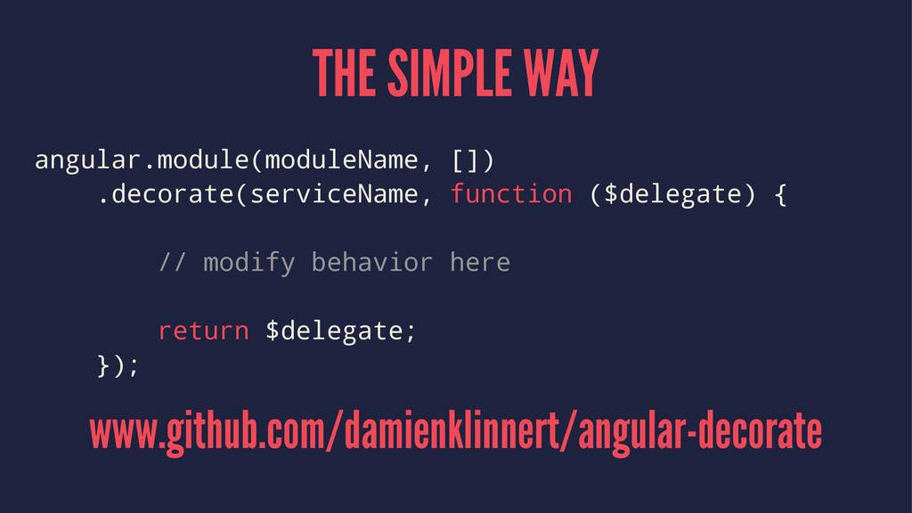 THE SIMPLE WAY angular.module(moduleName, []) ....