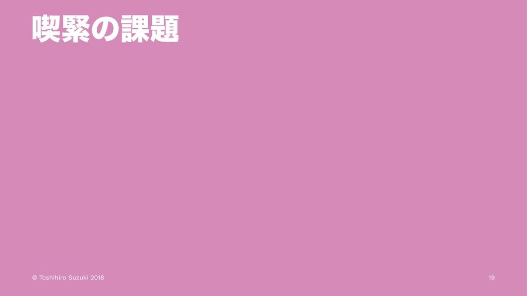 ٤ۓͷ՝ © Toshihiro Suzuki 2018 19