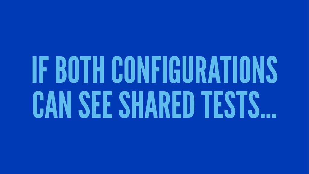 IF BOTH CONFIGURATIONS CAN SEE SHARED TESTS...