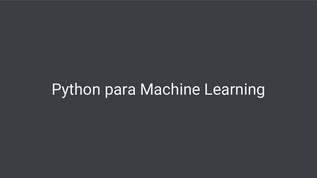 Python para Machine Learning