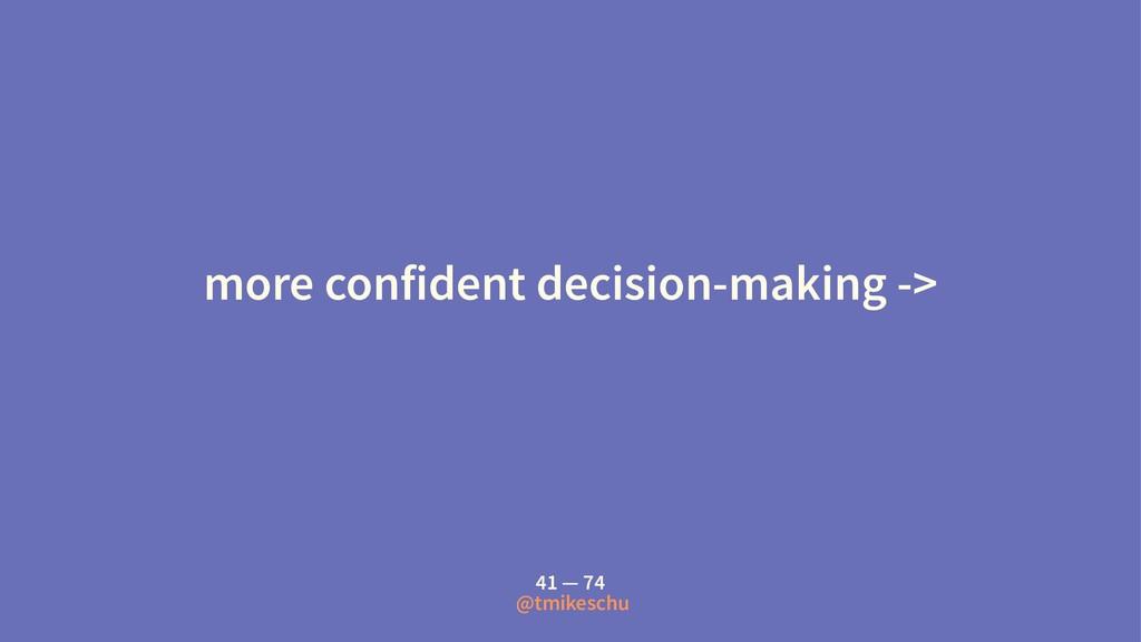 more confident decision-making -> 41 — 74 @tmik...