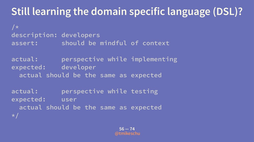 Still learning the domain specific language (DS...