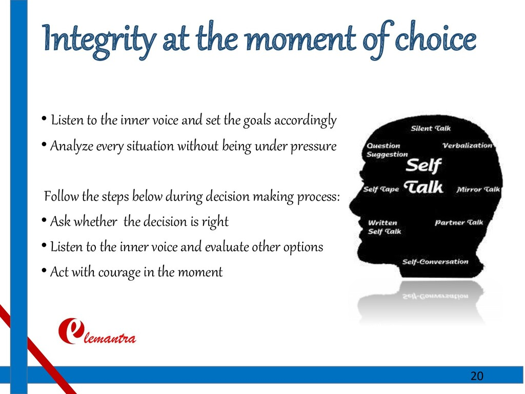 Integrity at the moment of choice • Listen to t...