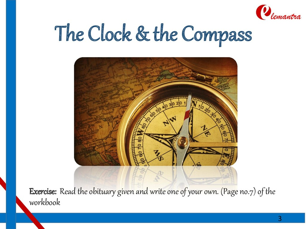 The Clock & the Compass Exercise: Read the obit...