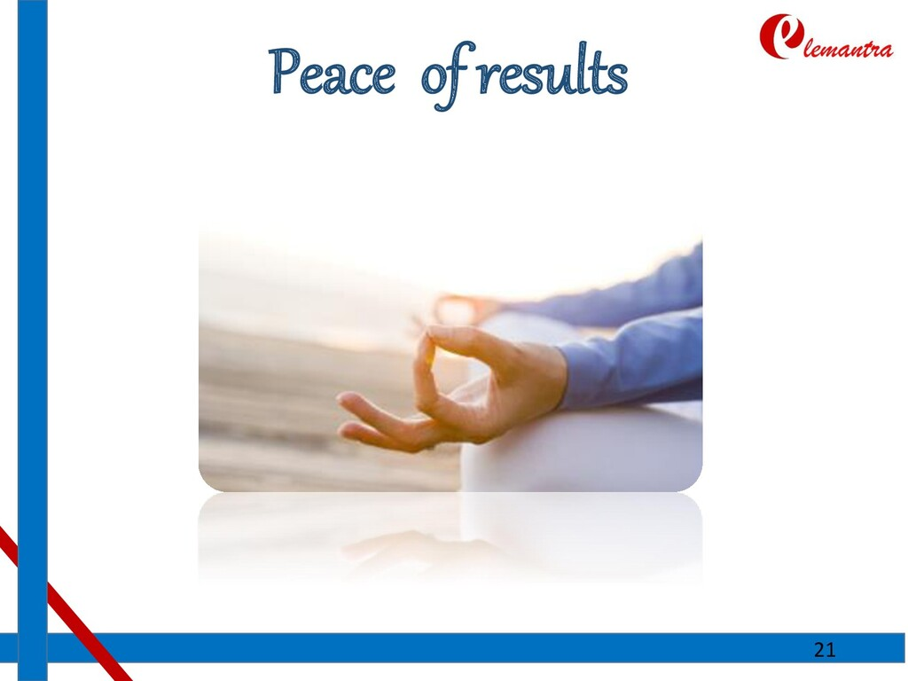 Peace of results 21