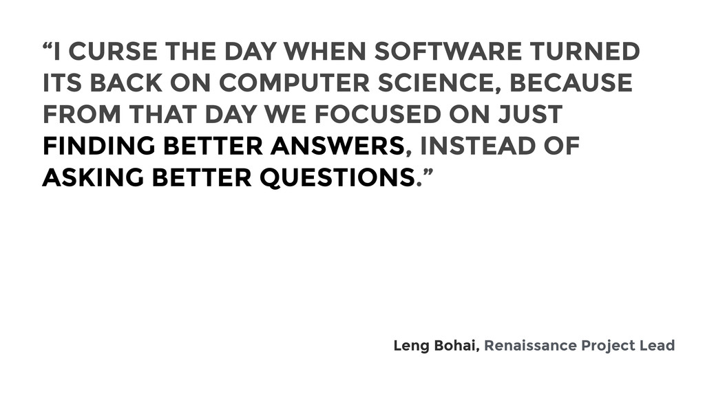 """I CURSE THE DAY WHEN SOFTWARE TURNED ITS BACK ..."