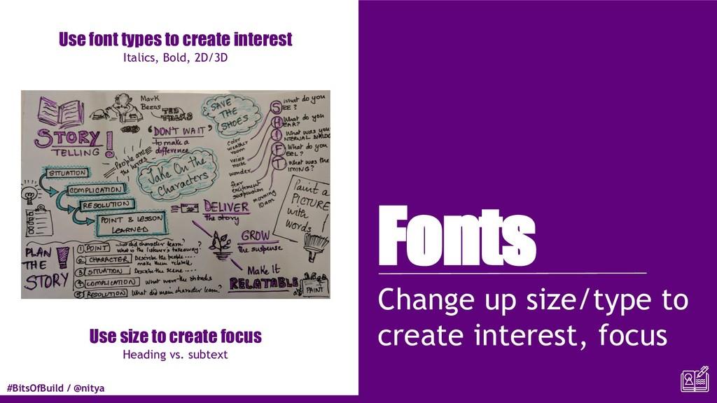 #BitsOfBuild / @nitya Fonts Change up size/type...