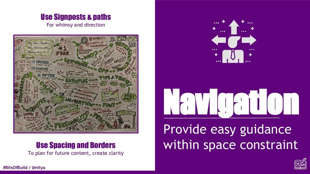#BitsOfBuild / @nitya Navigation Provide easy g...
