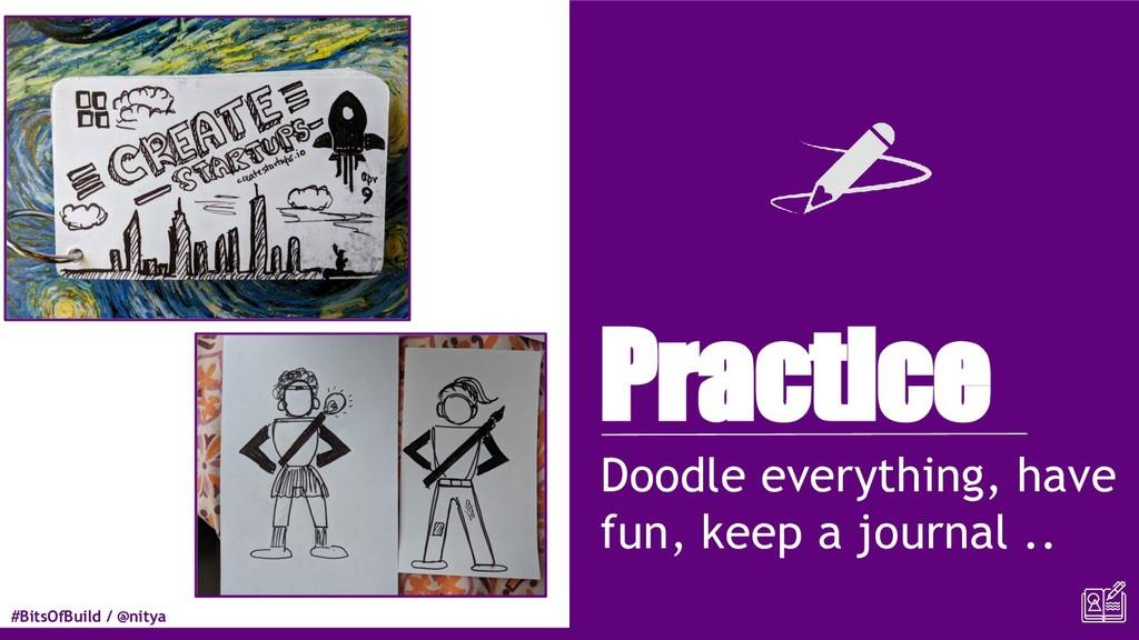 #BitsOfBuild / @nitya Practice Doodle everythin...