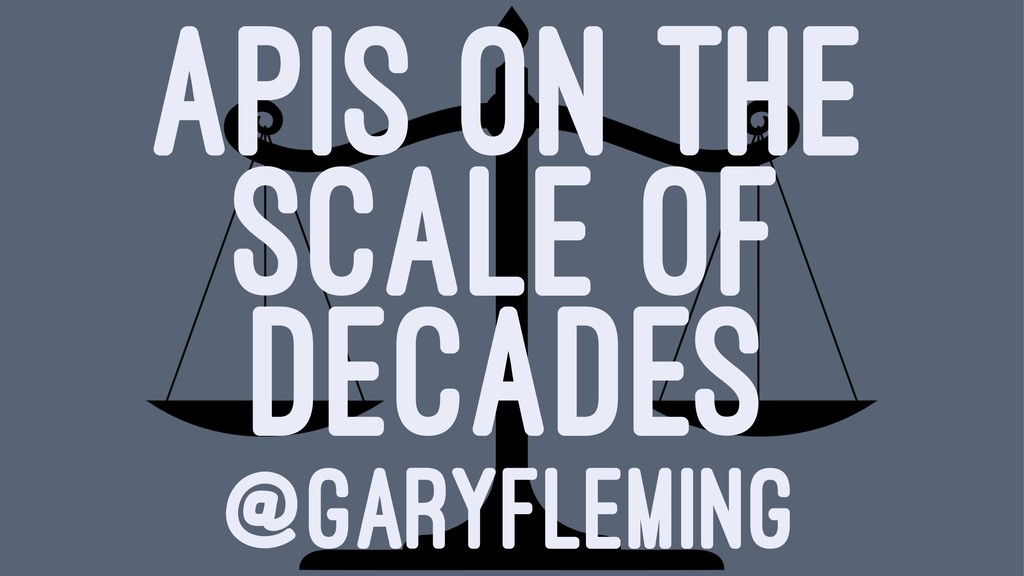 APIS ON THE SCALE OF DECADES @GARYFLEMING