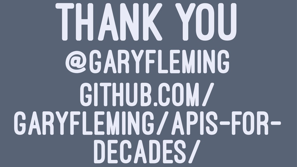 THANK YOU @GARYFLEMING GITHUB.COM/ GARYFLEMING/...