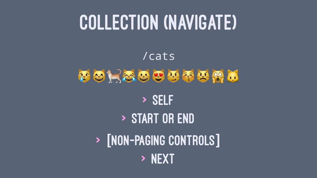 "COLLECTION (NAVIGATE) /cats !""#$%&'()*+ > Self ..."