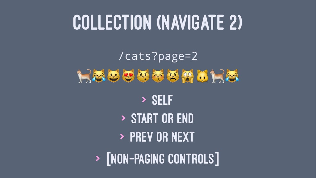 "COLLECTION (NAVIGATE 2) /cats?page=2 !""#$%&'()!..."
