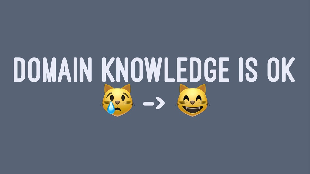 DOMAIN KNOWLEDGE IS OK ! ->