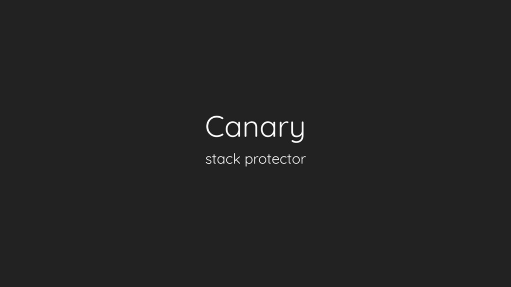 Canary stack protector